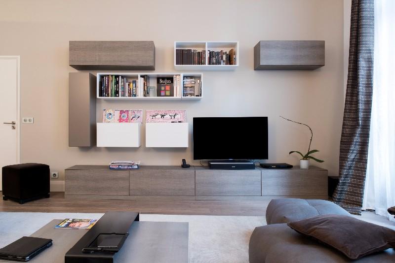 composition murale pour salon sk concept. Black Bedroom Furniture Sets. Home Design Ideas