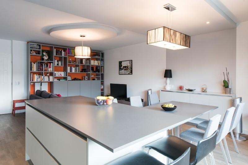cuisine lineaire avec ilot solutions pour la d233coration