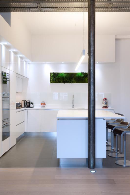 conception d 39 une cuisine armony ouverte sur la pi ce vivre d 39 un loft paris paris. Black Bedroom Furniture Sets. Home Design Ideas