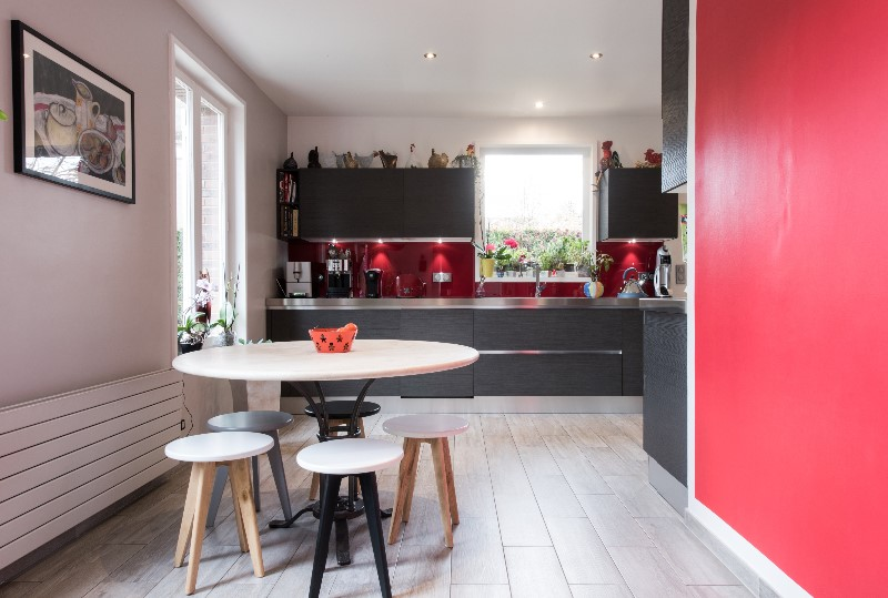 Cuisine ouverte en am nagement clat armony cucine paris for Amenagement cuisine ouverte avec ilot