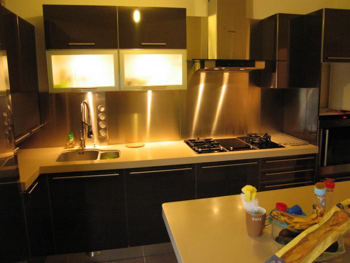 Cuisine beta laqu brillant noir par l 39 architecte d 39 int rieur s verin - Cuisine noir brillant ...