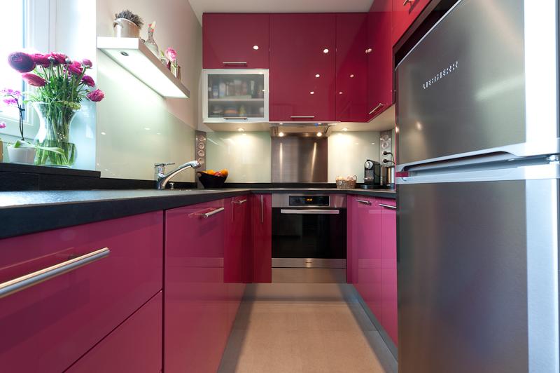 Skconcept agencement d 39 une cuisine finition laqu et Agencement petit appartement