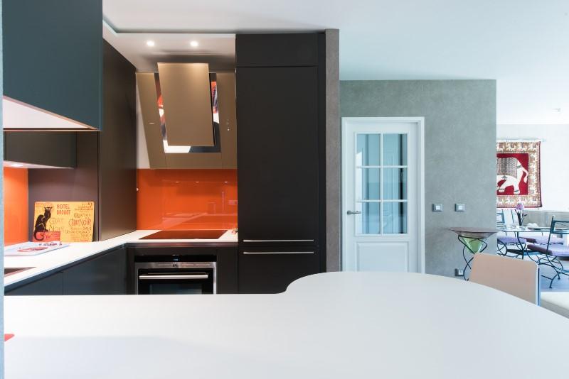 Salon salle manger cuisine ouverte design d 39 int rieur et for Cuisine en u ouverte sur salon